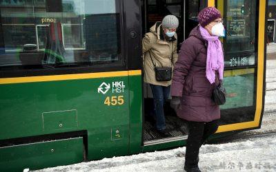 3月13日起赫尔辛基地区所有公共交通将强制乘客佩戴口罩