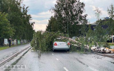 芬兰北部城市奥卢遭暴风雨袭击,造成一人遇难,气象学家警告更多暴风雨即将来临