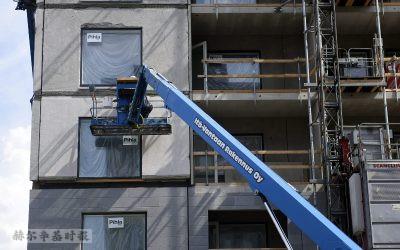 芬兰的住宅建设继续快速发展