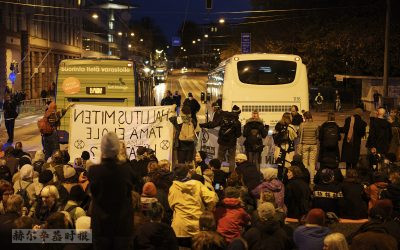 警方驱散赫尔辛基市中心的抗议活动,超过120人被拘留
